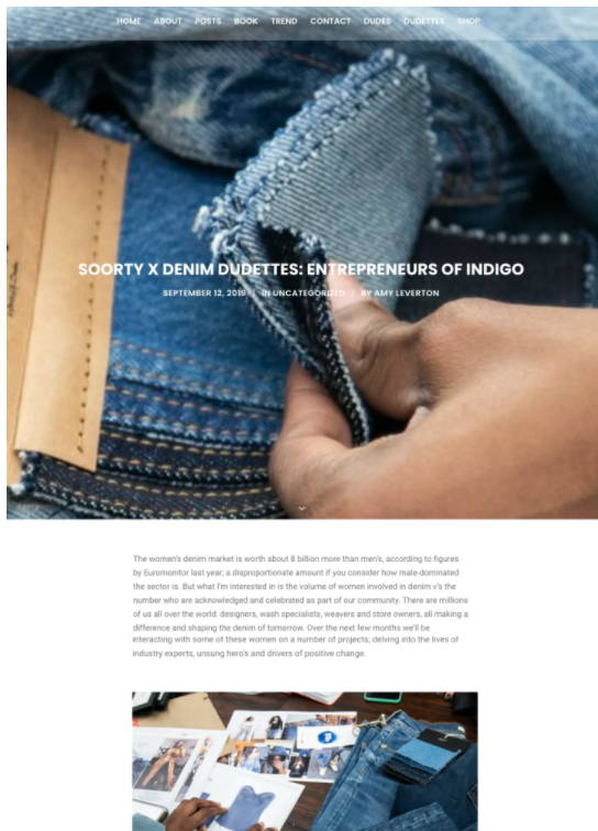 SOORTY X DENIM DUDETTES: ENTREPRENEURS OF INDIGO Article