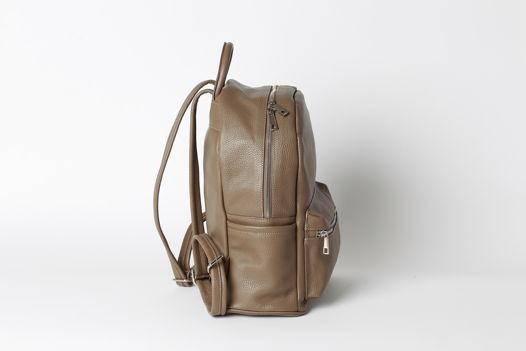 Кожаный рюкзак SASHA  цвета кофе с молоком Taupe. В наличии в Москве