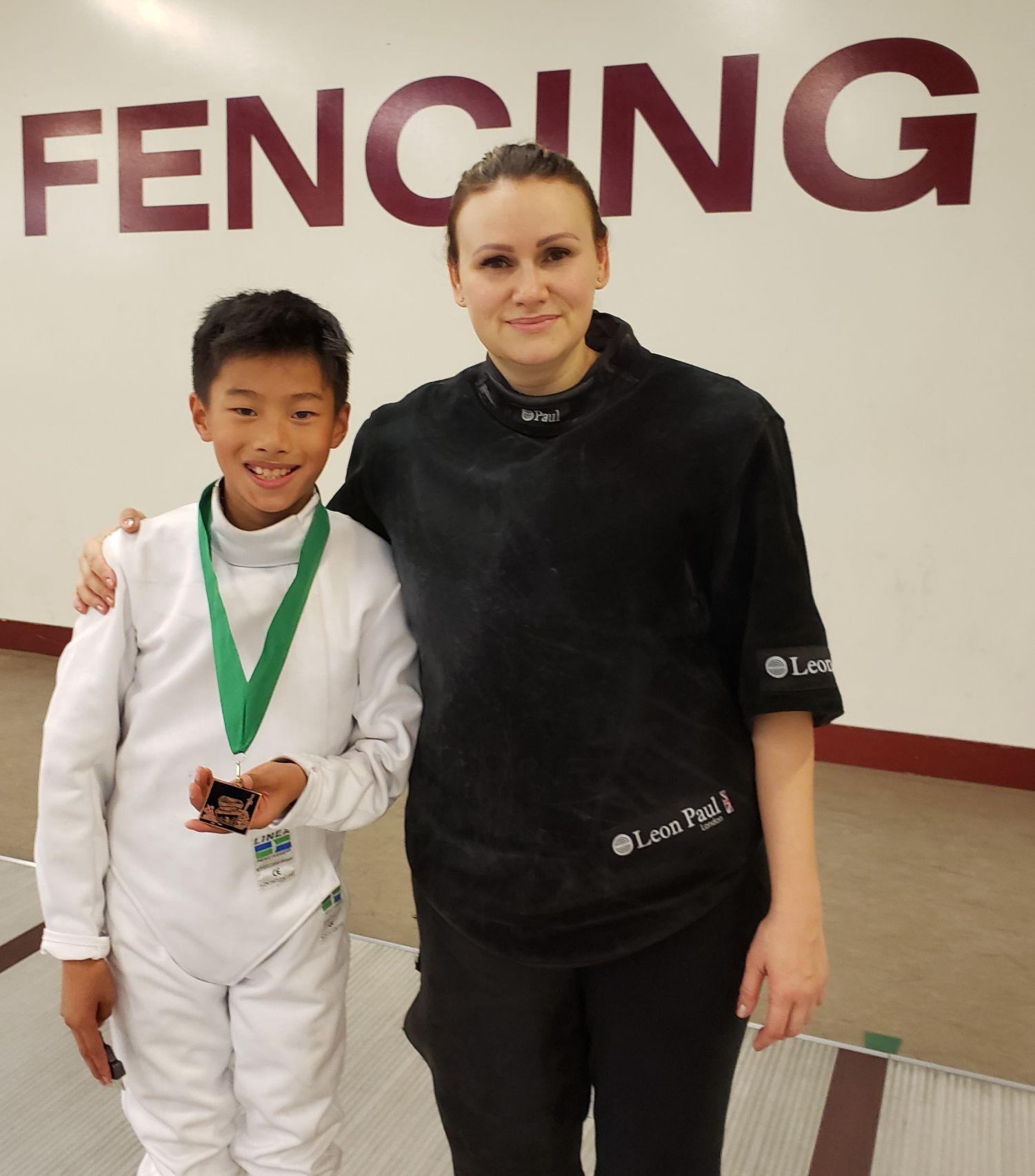 Olga and Epee Medalist