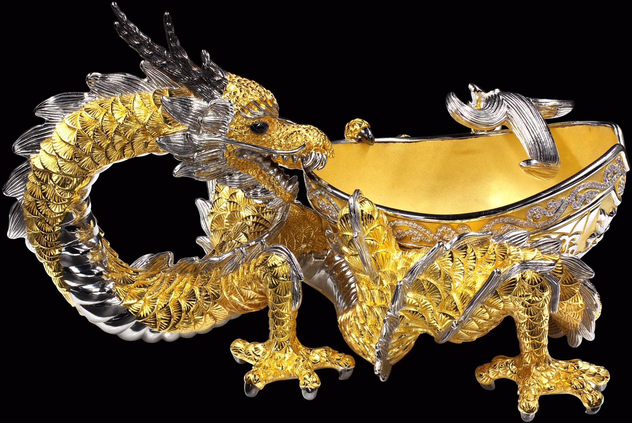 Dragon cigar ashtray yves lemay jewelry