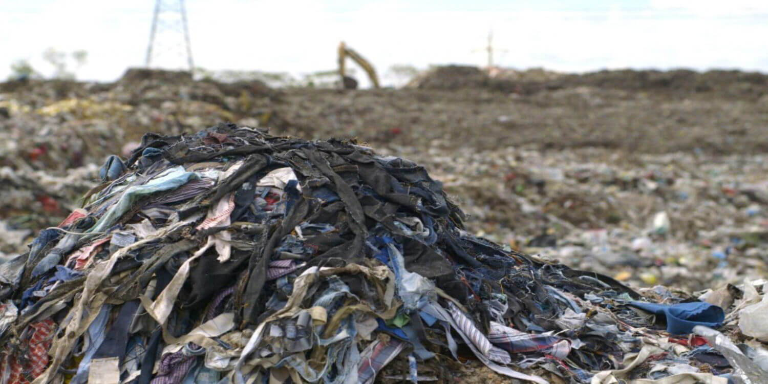 Fast fashion ends up in landfills