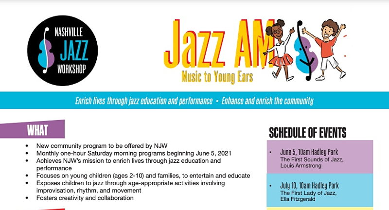 """""""The Cave"""" presented by the Nashville Jazz Workshop"""