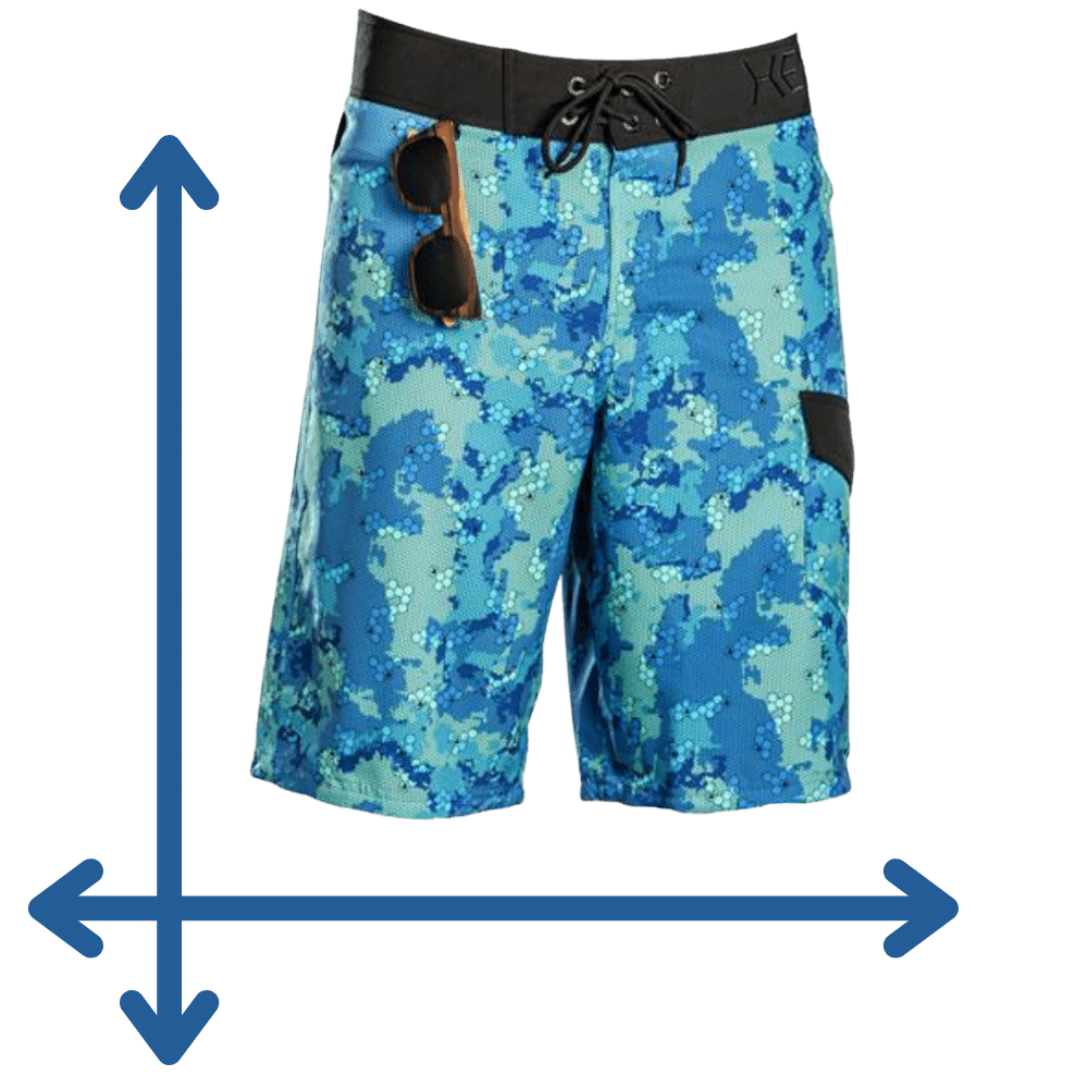 long board shorts measurements