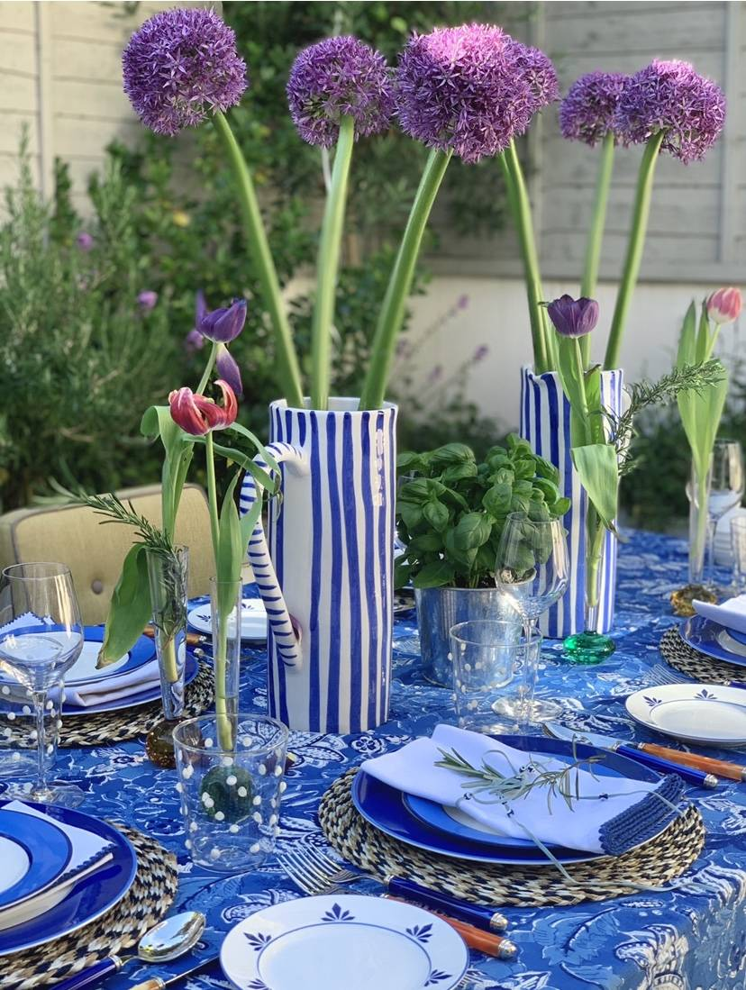 Breakfast tablescape by LAY at HURR rentable fashion store