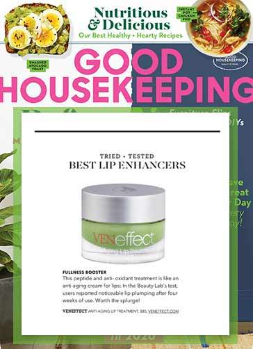 Good Housekeeping recommends VENeffect Anti-aging Lip Treatments  the best lip enhancers