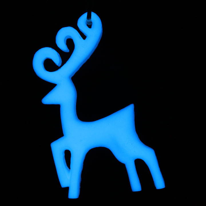 Make a glow in the dark object reindeer with glow powder and resin.