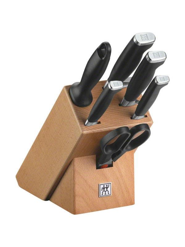 Knife Set Wood Block, 7 pcs.