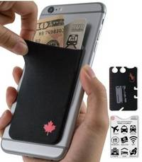 phone wallet Canada Flag by gecko travel tech