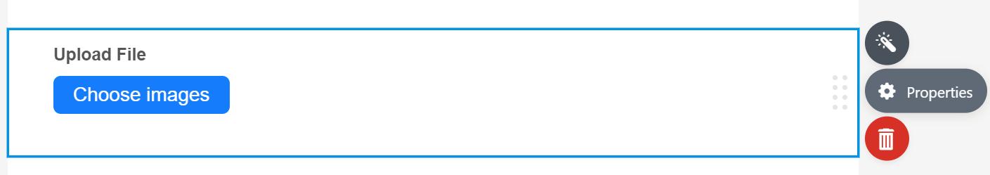 Uploader Properties Icon in JotForm