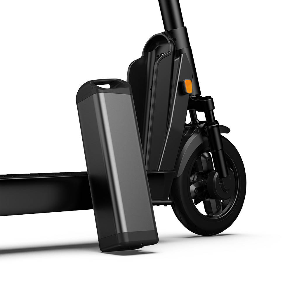 Okai Electric Scooter & Electric Bike Manufacturer, ES400B Electric Scooter Swappable Battery outside of the Scooter