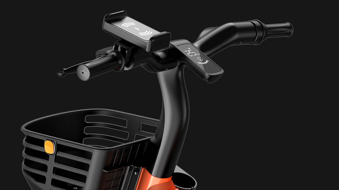 Okai Micromobility Manufacturer, EB100 Electric Bike Handlebar with Display