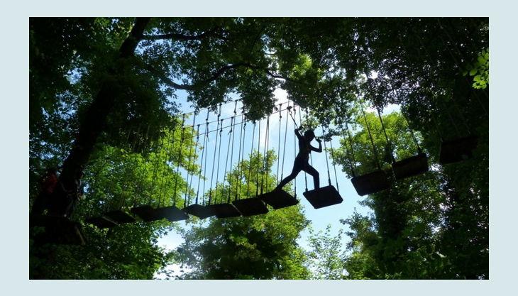 kletterwald freischütz lange wackel brücke