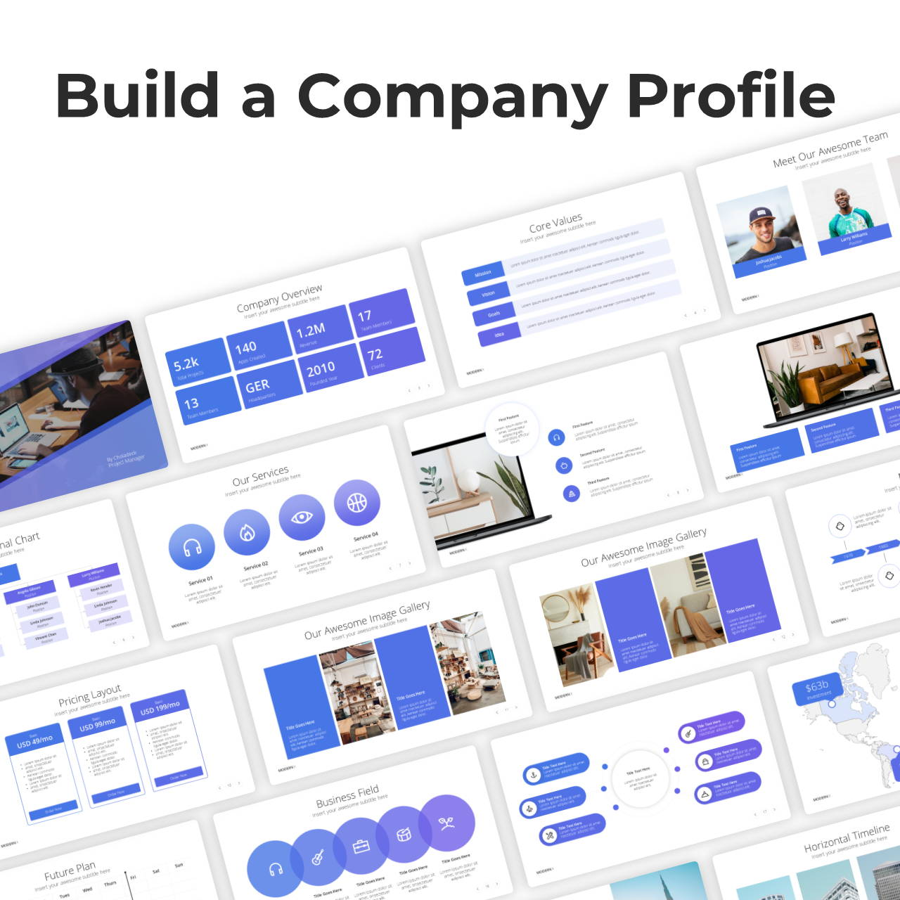 Modern X  Company Profile Presentation Template