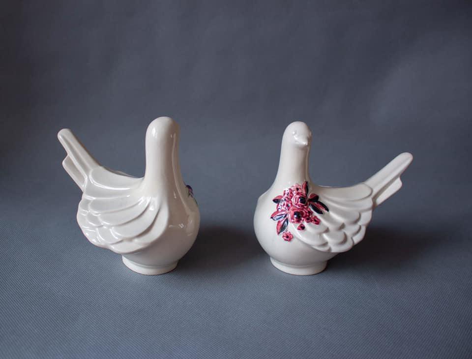 2 дизайнерских фигурки голубей, 60е, Швеция