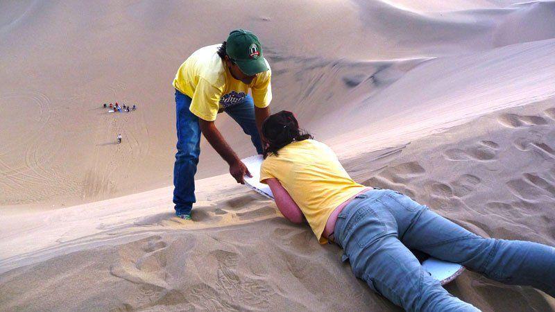 Ready, set, sandboard, Peru