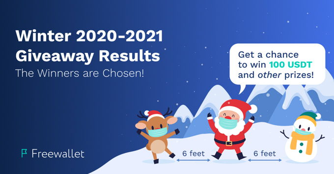 Winners of the Freewallet Winter 2020-2021 Giveaway!