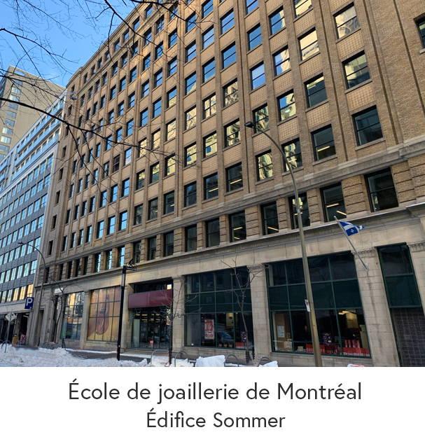 Photo de l'édifice Sommer de Montréal où se trouve l'École de joaillerie de Montréal.