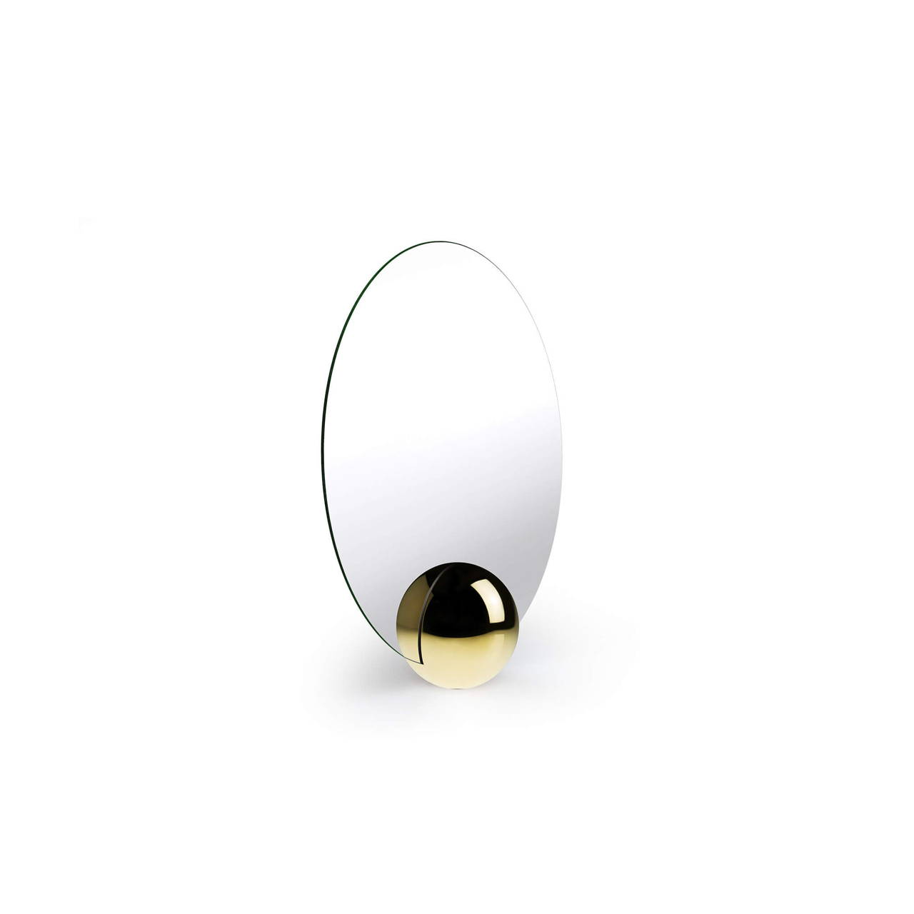 O-Mirror 200 in Polished Brass