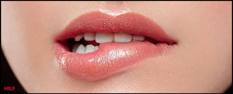 maquillage discret des lèvres et de la bouche