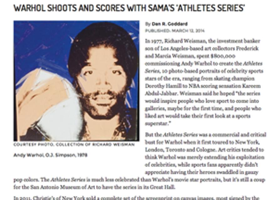 Warhol, Athletes