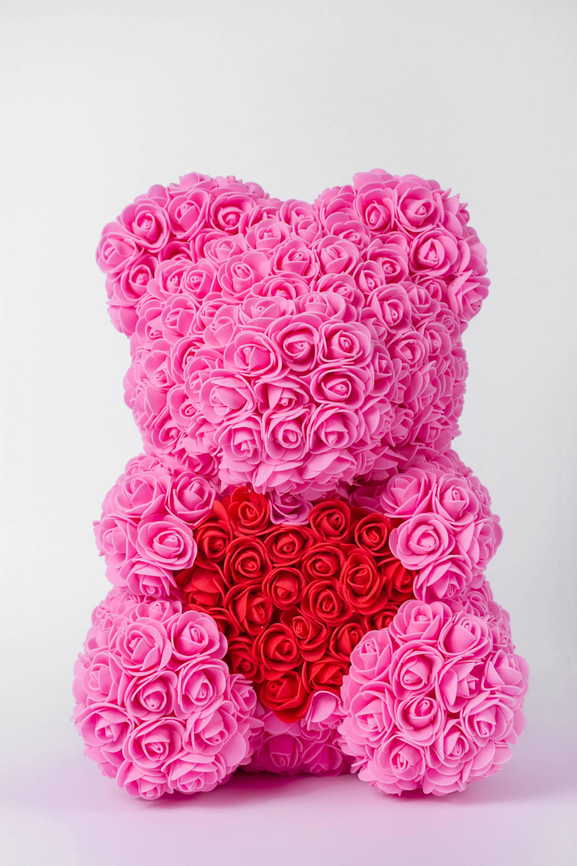 pink rose bear, rose bear pink