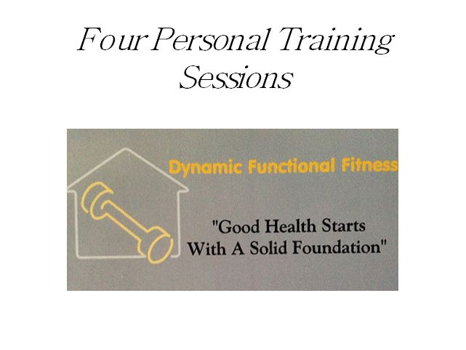 Four Personal Training Sessions