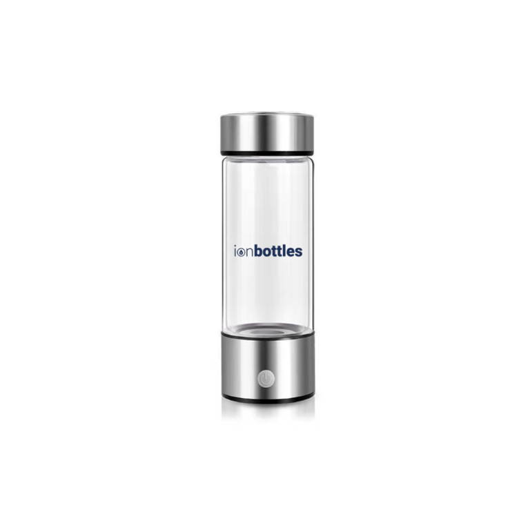 IonBottles 14 Oz Glass BPA Free Water Bottle Hydrogen Generator