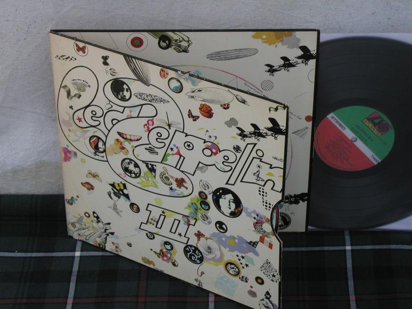 Led Zeppelin III 1st press w/pinwheel - 1841 Broadway labels. Atlantic SD7201