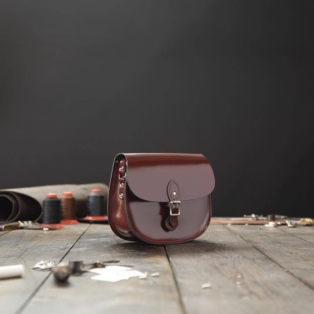 Red Large Leather Saddlebag