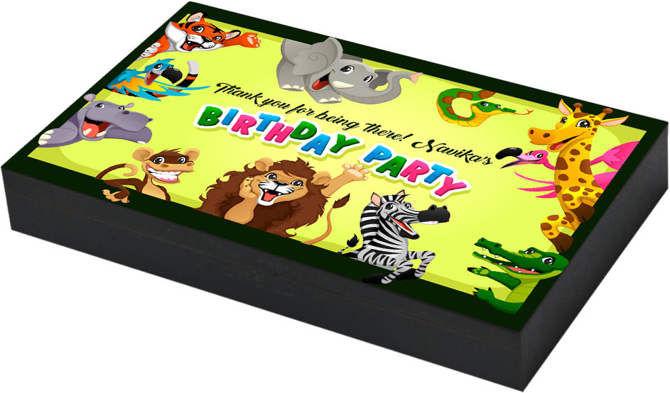 Jungle theme birthday party gift