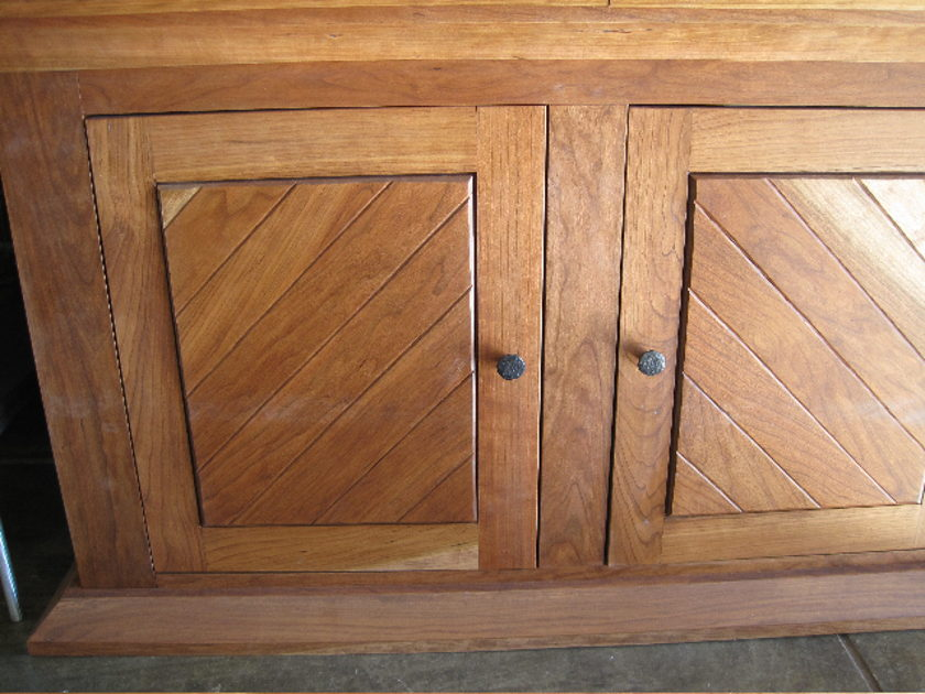 Stereo Cabinet Custom made solid cherry