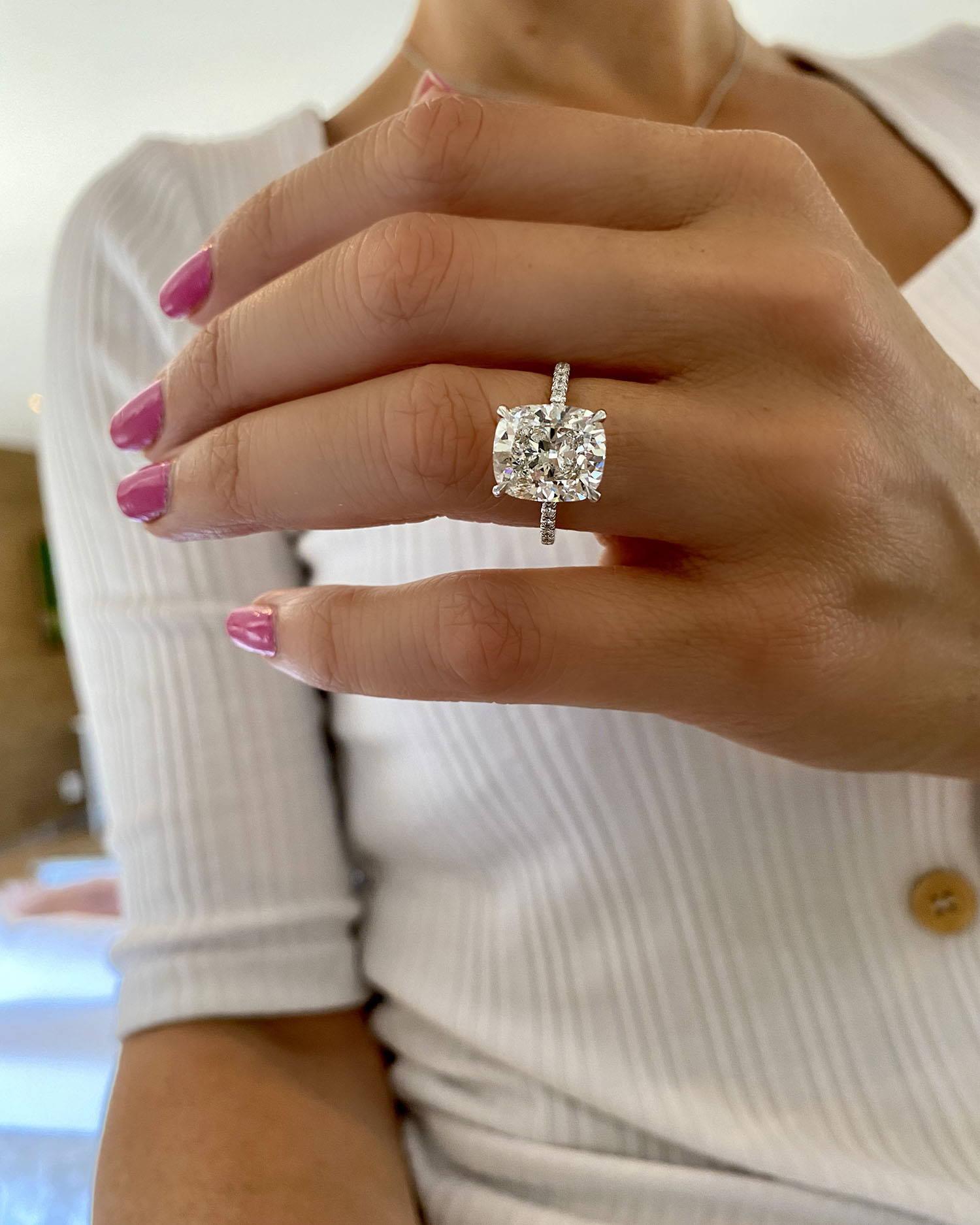 Miss Diamond Ring 5 Carat 6 Carat Radiant Diamond Engagement Ring