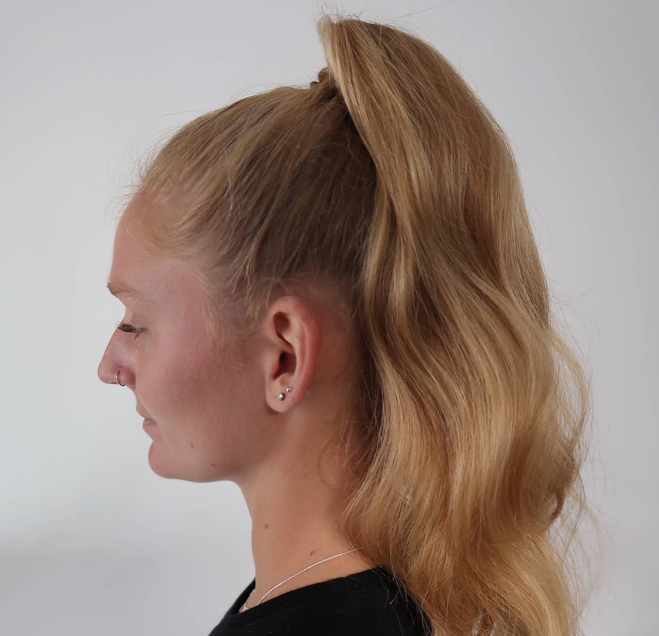 Davines slick ponytail hair tutorial