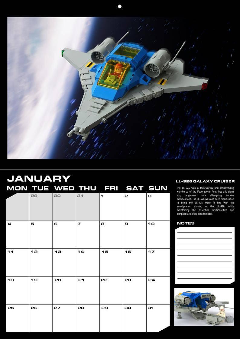 lego space calendar