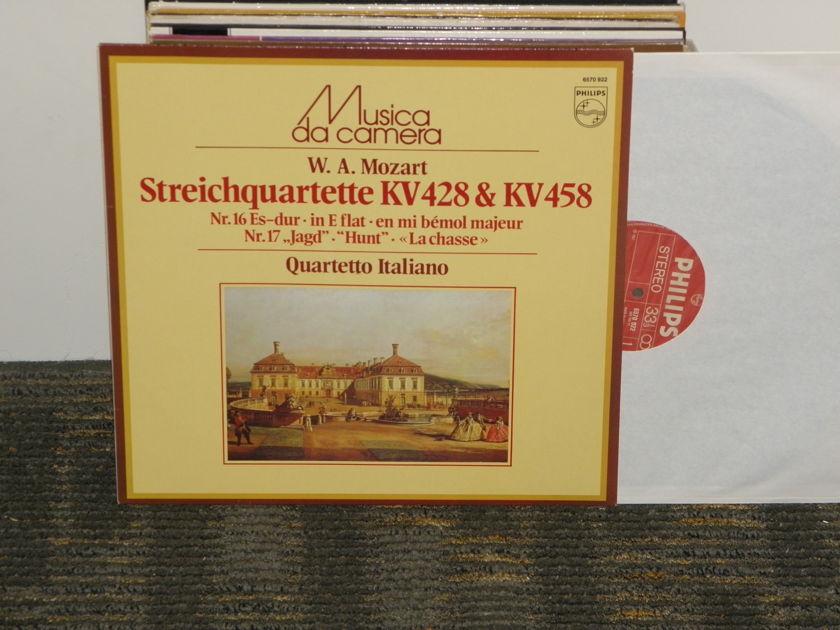 "Quartetto Italiano - Mozart ""StringQuartette KV 428& KV 429"" Philips Import Pressing 6570 922 Holland"