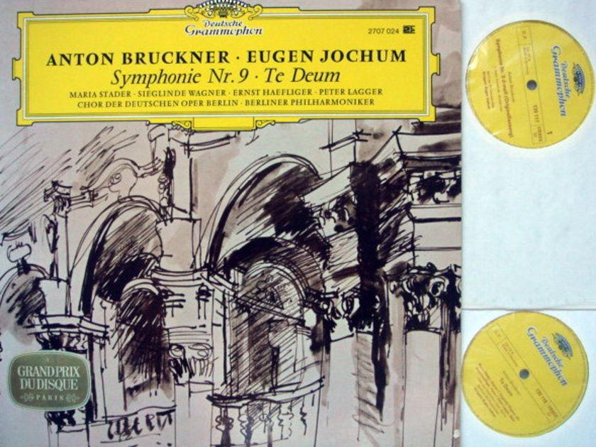 DG / Bruckner Symphony No.9, Te Deum, - JOCHUM/BPO, MINT, 2LP Set!
