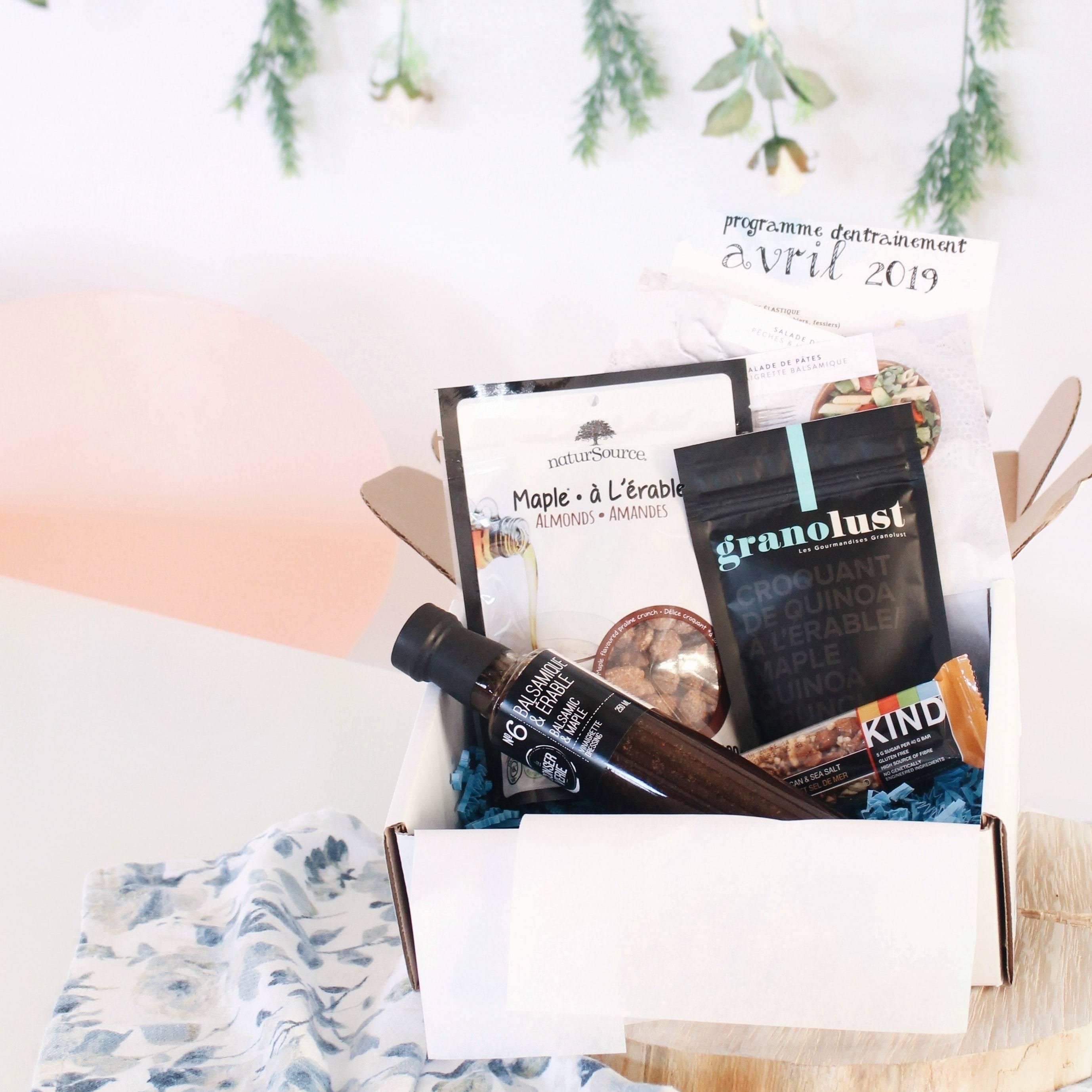 moidabord boite mensuelle santé box nourriture québécoise Québec Canada femme moi d'abord little life box la petite boite à vie
