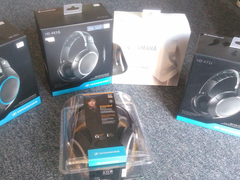 Sennheiser Electronics & Yamaha  Various Headphones As seen