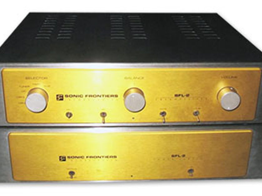 SONIC FRONTIERS SFL-2 Line Stage Preamplifier (Gold) - w/Tungsram NOS Tubes; 1 yr. Warranty; 58% Off; Free Shipping
