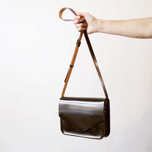 Кожаная сумка Envelope Gloss Marsala