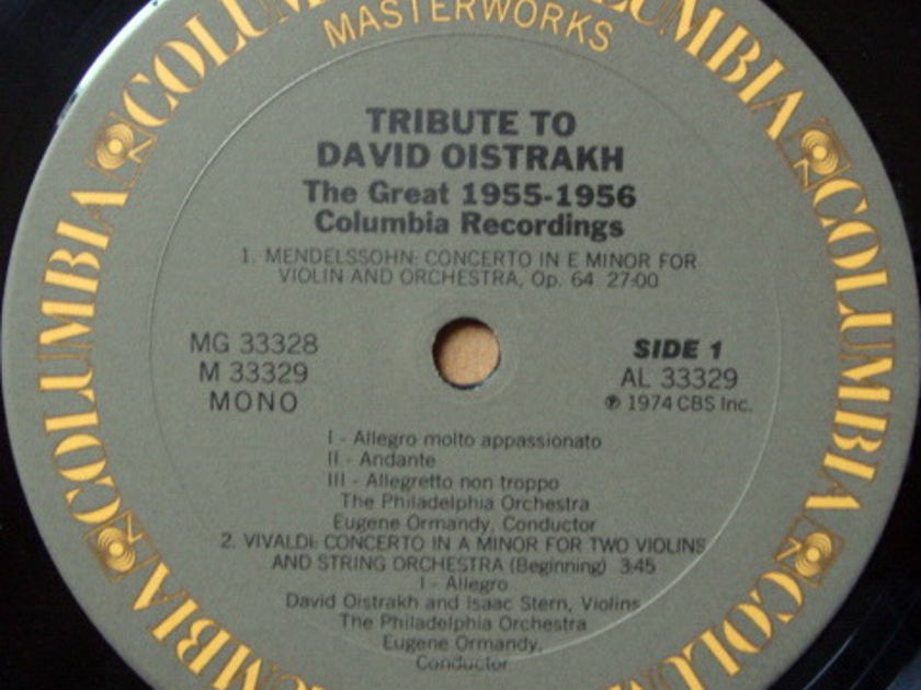 Columbia / OISTRAKH-ORMANDY, - A Tribute to DAVID OISTRAKH, NM, 2LP Set!