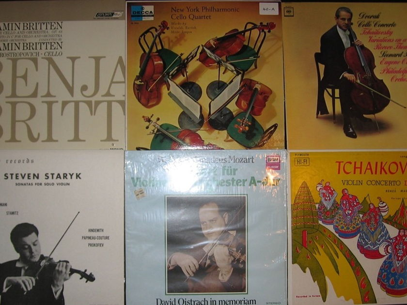 30 Classical Lp lot Violin - Cello, Strings etc Original prints Nice Collection