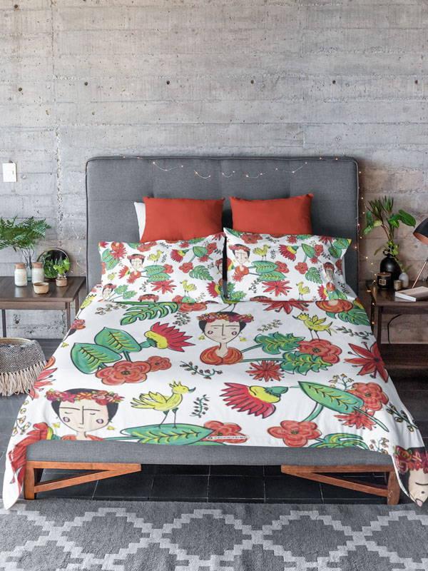 Zacchissimi Frida Kahlo Inspired Duvet Cover