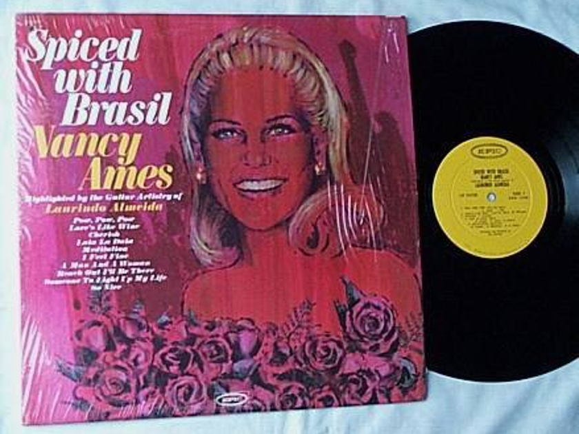Nancy Ames Lp- - Spiced with Brasil- rare orig 1967 mono epic album