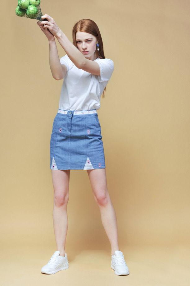 джинсовая мини юбка