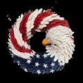American flag wreath, usa Flag wreath,OLD GLORY WREATH