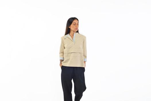 Рубашка из тонкого хлопка с карманом