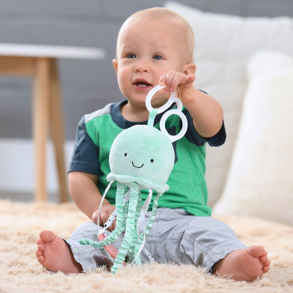 child with lights & sounds toys