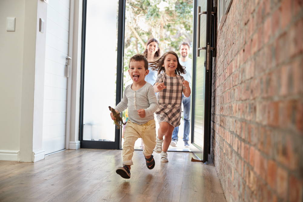 Children Running in Hallway