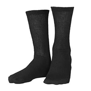Loose Fit Crew Length Sock in Black